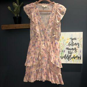 LoveShackFancy India Dress - Pink Garden